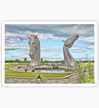the Kelpies , Helix Park, Grangemouth Sticker
