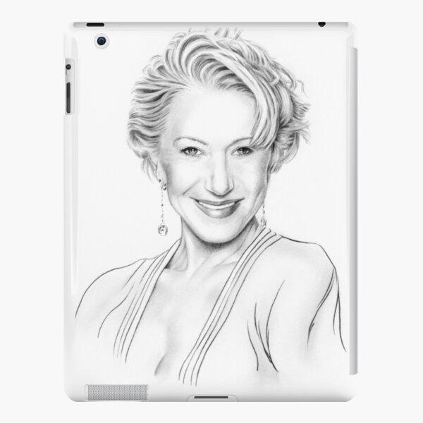 Helen Mirren drawing iPad Snap Case