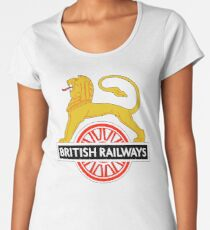 BRITISH RAILWAYS, BR, SIGN, First logo, British Railways, 'Cycling Lion' Women's Premium T-Shirt