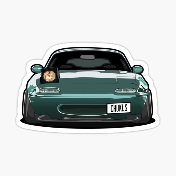 Miata Wink Car Sticker