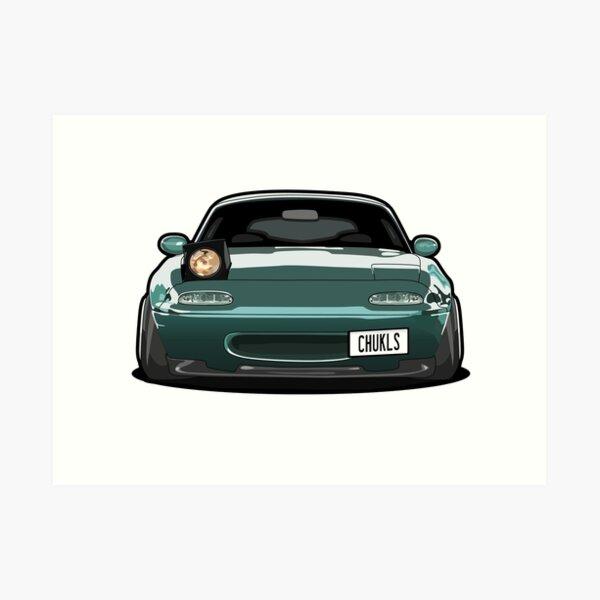 Miata Wink Car Art Print