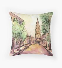 Charleston Streetscape Throw Pillow