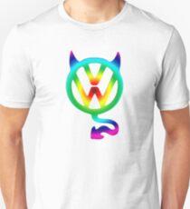 VW devil tail logo tie dye T-Shirt