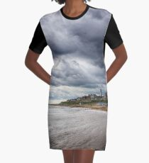 Stormy Seaside Graphic T-Shirt Dress