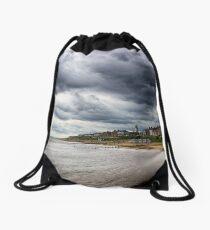 Stormy Seaside Drawstring Bag