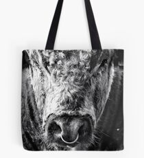 English Longhorn Bull Tote Bag