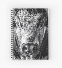 English Longhorn Bull Spiral Notebook