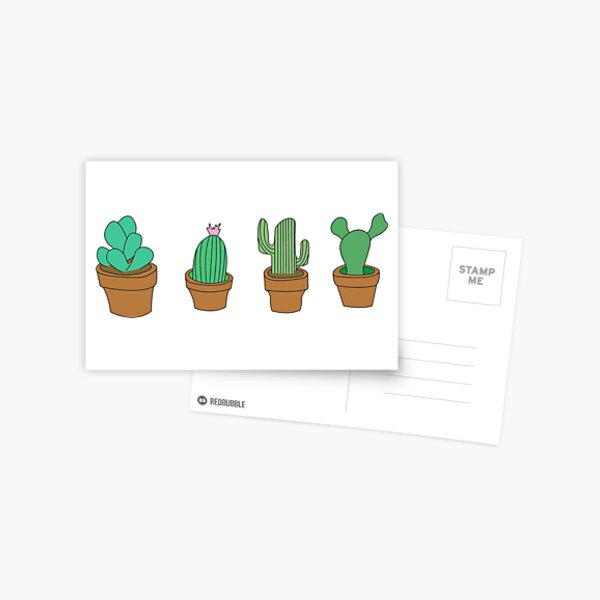 My friendly cactus family Postcard