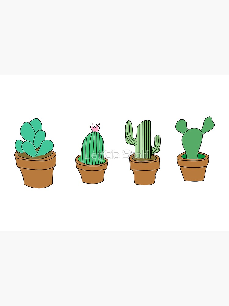 My friendly cactus family by ldsart