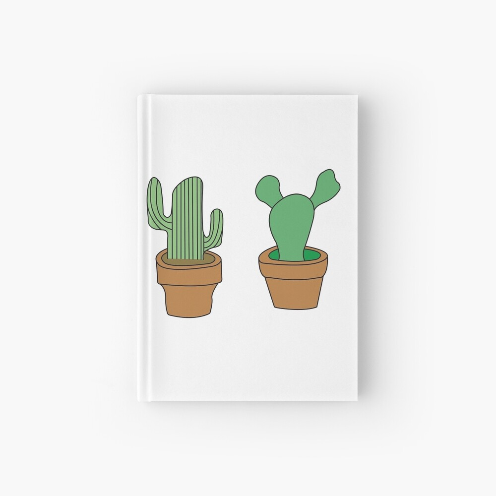 My friendly cactus family Hardcover Journal