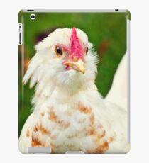 White Barbu d'Uccle bantam chicken iPad Case/Skin