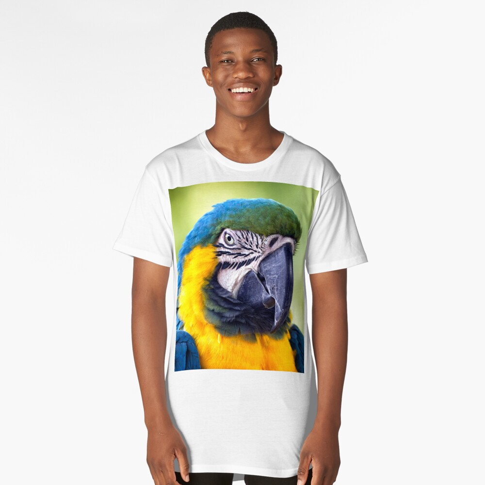 Macaw Parrot Long T-Shirt Front