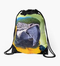 Macaw Parrot Drawstring Bag