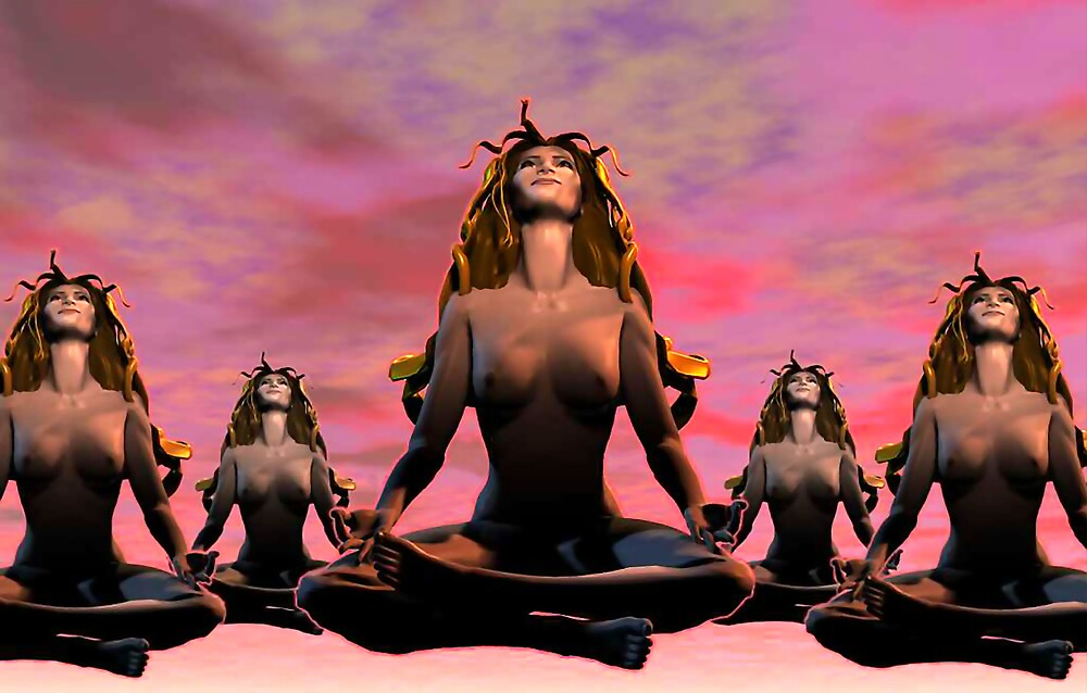 The Ohm Sisters - 3D art by Dave Martsolf