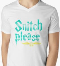 Snitch Please Men's V-Neck T-Shirt