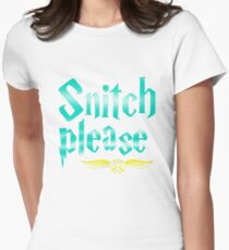 Snitch Please Women's Fitted T-Shirt