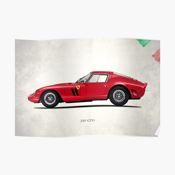 1964 Ferrari 250 GTO Red Auto Car Art Silk Wall Poster 24x36/""