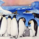 Penguins On Ice by Nina Rycroft