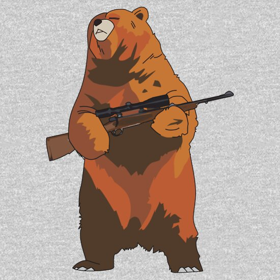 TShirtGifter presents: GunBear