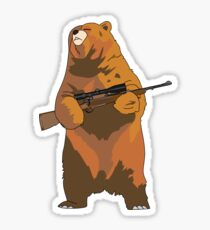 GunBear Sticker