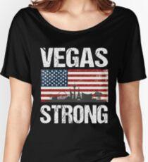 Las Vegas Strong Flag T-Shirt Women's Relaxed Fit T-Shirt