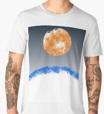 Orange fire sun Men's Premium T-Shirt