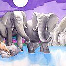 Elephant waterhole by Nina Rycroft