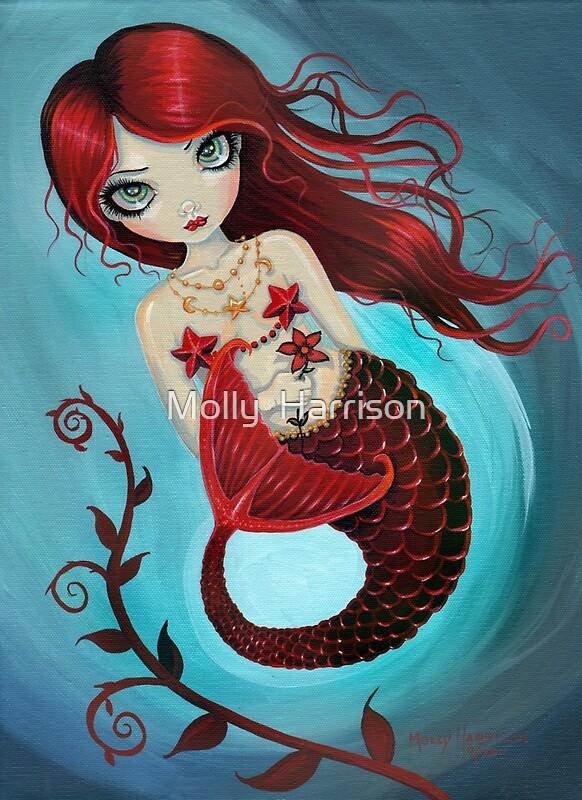 Quot Ruby Big Eye Mermaid By Molly Harrison Quot By Molly Harrison