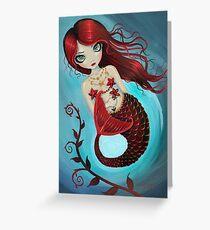 Ruby Big Eye Mermaid by Molly Harrison Greeting Card