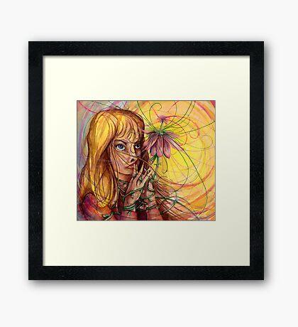 Magic Flower Girl Framed Print