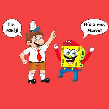 Mario and SpongeBob by iedasb