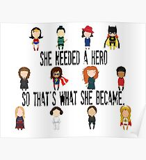 So that's what she became Poster