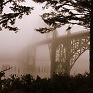Yaquina Bay Bridge in the fog , Newport, Oregon *1,689 views* by aussiedi