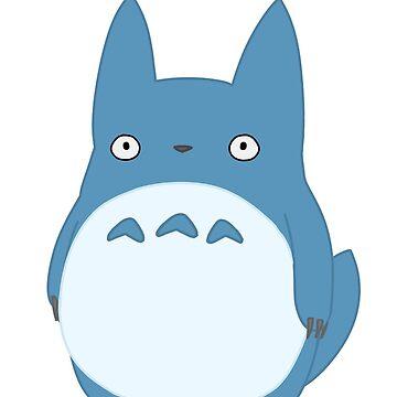 Blue Totoro by TimeladyAt221b