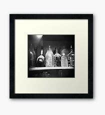 dusty bottles Framed Print