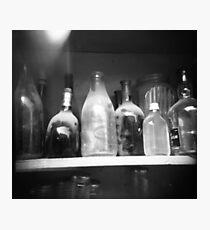dusty bottles Photographic Print