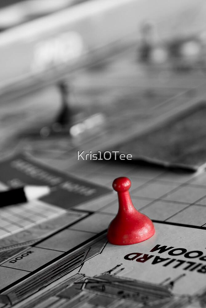 Ms Scarlet in the Billiard Room by Kris10Tee