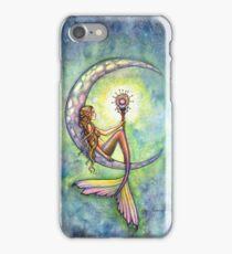 """""""Mermaid Moon"""" Mermaid Art by Molly Harrison iPhone Case/Skin"""