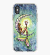 "Vinilo o funda para iPhone ""Mermaid Moon"" Mermaid Art de Molly Harrison"