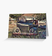 Gaz Jeep Greeting Card