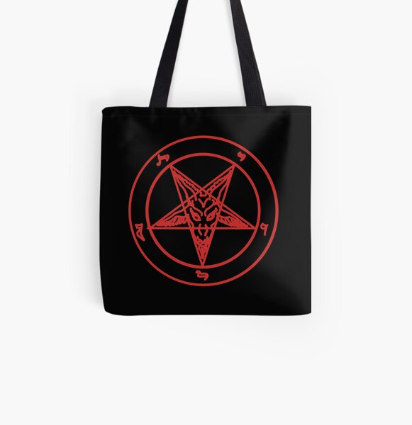 Red Baphomet All Over Print Tote Bag