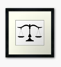 weight scale Framed Print