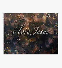 i love Jesus Photographic Print