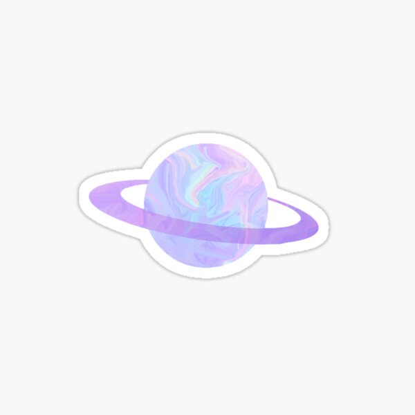 Holographic Pastel Planet Sticker