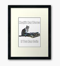 Khajiit haz wares - V.3 classic meme Framed Print
