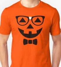 Funny Halloween T-Shirt Nerdy Pumpkin Face Glasses Costume  T-Shirt
