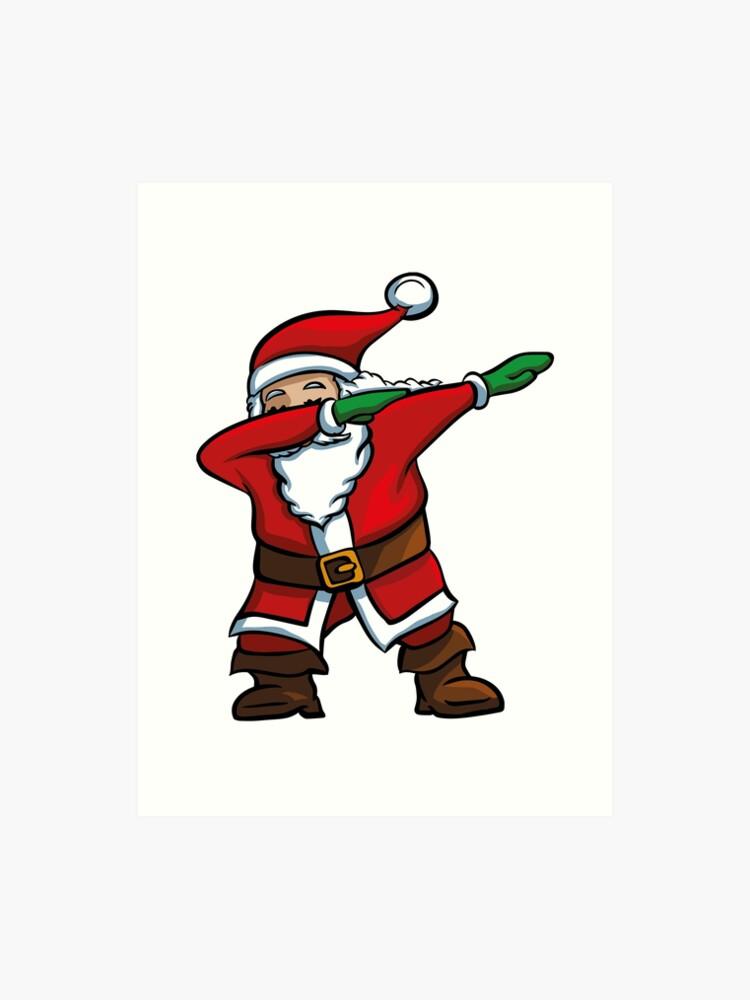 047a448fa Dabbing Santa T-Shirt Funny Santa Claus Christmas Dab Tee Art Print