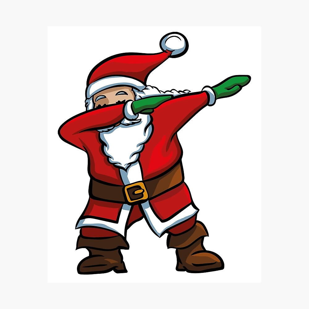 photo relating to Santa Claus Printable Pictures called Dabbing Santa T-Blouse Humorous Santa Claus Xmas Dab Tee Photographic Print