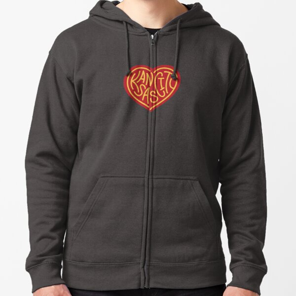 Love KC (red x yellow) Zipped Hoodie