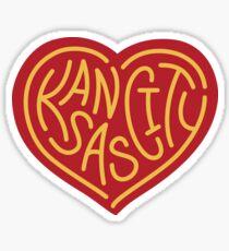 Love KC (red x yellow) Sticker